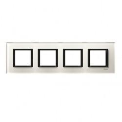 Рамка 4 поста Schneider Electric UNICA CLASS, белый, MGU68.008.7C2