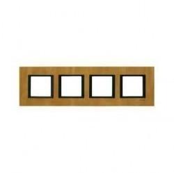 Рамка 4 поста Schneider Electric UNICA CLASS, кожа светлая, MGU68.008.7P1