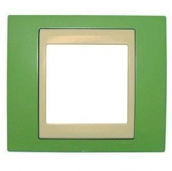 Рамка 1 пост Schneider Electric UNICA ХАМЕЛЕОН, салатовый, MGU6.002.563