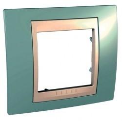Рамка 1 пост Schneider Electric UNICA ХАМЕЛЕОН, морская волна, MGU6.002.570