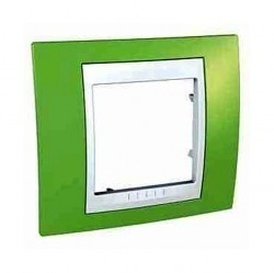 Рамка 1 пост Schneider Electric UNICA ХАМЕЛЕОН, салатовый, MGU6.002.863