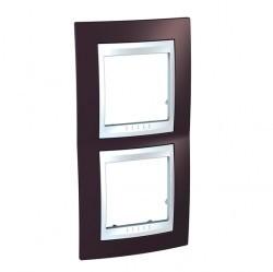 Рамка 2 поста Schneider Electric UNICA ХАМЕЛЕОН, вертикальная, лиловый, MGU6.004V.876