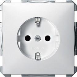 Розетка Schneider Electric SYSTEM DESIGN, скрытый монтаж, с заземлением, со шторками, белый, MTN2300-4019