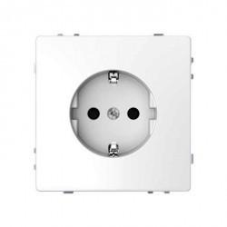 Розетка Schneider Electric D-LIFE, скрытый монтаж, с заземлением, со шторками, белый, MTN2300-6035