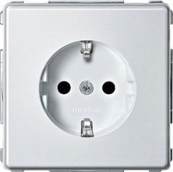 Розетка Schneider Electric AQUADESIGN IP44, скрытый монтаж, с заземлением, со шторками, белый, MTN2300-7219
