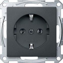 Розетка Schneider Electric SYSTEM DESIGN, скрытый монтаж, с заземлением, антрацит, MTN2301-0414