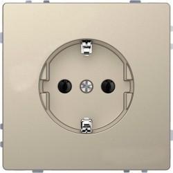 Розетка Schneider Electric D-LIFE, скрытый монтаж, с заземлением, песочный, MTN2301-6033