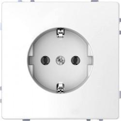 Розетка Schneider Electric D-LIFE, скрытый монтаж, с заземлением, белый, MTN2301-6035