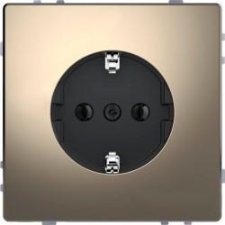 Розетка Schneider Electric D-LIFE, скрытый монтаж, с заземлением, никель, MTN2301-6050