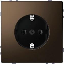 Розетка Schneider Electric D-LIFE, скрытый монтаж, с заземлением, мокко, MTN2301-6052