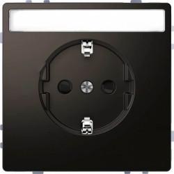 Розетка Schneider Electric D-LIFE, скрытый монтаж, с заземлением, антрацит, MTN2302-6034