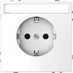 Розетка Schneider Electric D-LIFE, скрытый монтаж, с заземлением, белый, MTN2302-6035