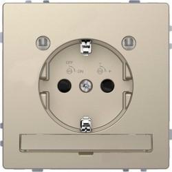 Розетка Schneider Electric D-LIFE, скрытый монтаж, с заземлением, песочный, MTN2304-6033