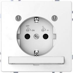 Розетка Schneider Electric D-LIFE, скрытый монтаж, с заземлением, белый, MTN2304-6035