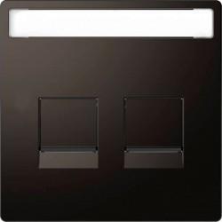 Розетка Schneider Electric D-LIFE, скрытый монтаж, с заземлением, с крышкой, антрацит, MTN2310-6034