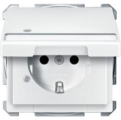 Розетка Schneider Electric SYSTEM DESIGN, скрытый монтаж, с заземлением, с крышкой, белый, MTN2313-4019