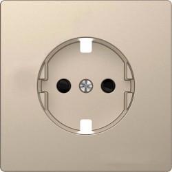 Накладка на розетку Schneider Electric MERTEN D-LIFE, с заземлением, со шторками, сахара, MTN2330-6033