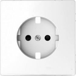 Накладка на розетку Schneider Electric MERTEN D-LIFE, с заземлением, со шторками, белый лотос, MTN2330-6035