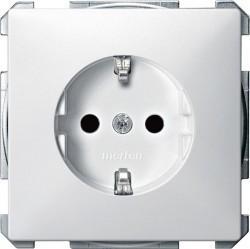 Розетка Schneider Electric SYSTEM DESIGN, скрытый монтаж, с заземлением, со шторками, белый, MTN2400-4019