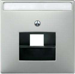 Накладка на розетку информационную Schneider Electric MERTEN SYSTEM DESIGN, стальной, MTN291846