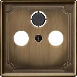 Накладка на розетку телевизионную Schneider Electric MERTEN SYSTEM DESIGN, античная латунь, MTN294143