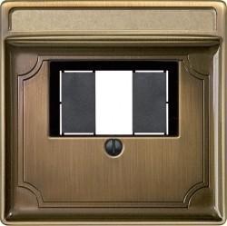 Накладка на розетку USB Schneider Electric MERTEN SYSTEM DESIGN, античная латунь, MTN297843