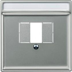 Накладка на розетку USB Schneider Electric MERTEN SYSTEM DESIGN, стальной, MTN297846