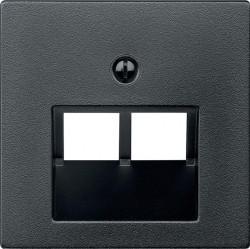 Накладка на розетку информационную Schneider Electric MERTEN SYSTEM DESIGN, антрацит, MTN298014