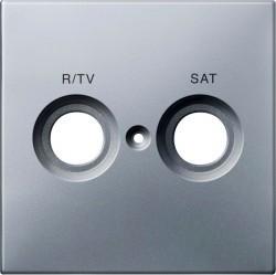 Накладка на розетку телевизионную Schneider Electric MERTEN SYSTEM DESIGN, алюминий, MTN299660