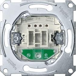 Механизм выключателя 1-клавишного двухполюсного Schneider Electric Коллекции Merten, с подсветкой, скрытый монтаж, MTN3102-0000