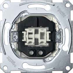 Механизм выключателя 2-клавишного Schneider Electric Коллекции Merten, с подсветкой, скрытый монтаж, MTN3105-0000