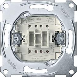 Механизм выключателя 1-клавишного Schneider Electric Коллекции Merten, скрытый монтаж, MTN3111-0000
