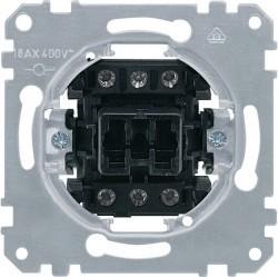 Механизм выключателя 1-клавишного трехполюсного Schneider Electric Коллекции Merten, скрытый монтаж, MTN311300