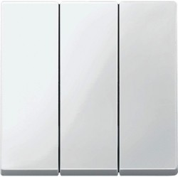 Клавиша тройная Schneider Electric MERTEN SYSTEM M, полярно-белый, MTN312619