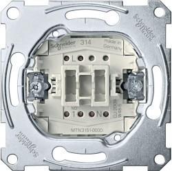 Механизм выключателя 1-клавишного кнопочного Schneider Electric Коллекции Merten, скрытый монтаж, MTN3151-0000