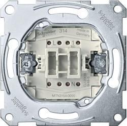 Механизм выключателя 1-клавишного кнопочного Schneider Electric Коллекции Merten, скрытый монтаж, MTN3154-0000