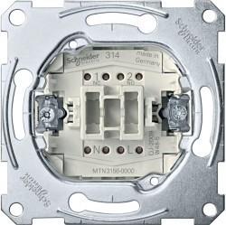 Механизм переключателя 1-клавишного кнопочного Schneider Electric Коллекции Merten, скрытый монтаж, MTN3156-0000