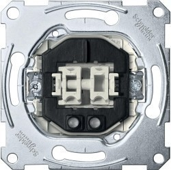 Механизм выключателя 2-клавишного кнопочного Schneider Electric Коллекции Merten, с подсветкой, скрытый монтаж, MTN3165-0000