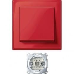 Выключатель 1-клавишный Schneider Electric JUMBO, скрытый монтаж, рубиново-красный, MTN3341-1406