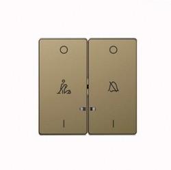 Клавиша двойная с линзами Schneider Electric MERTEN D-LIFE, песочный, MTN3429-6033