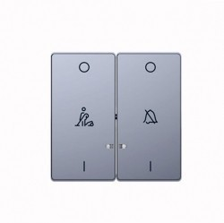 Клавиша двойная с линзами Schneider Electric MERTEN D-LIFE, нержавеющая сталь, MTN3429-6036