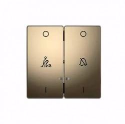 Клавиша двойная с линзами Schneider Electric MERTEN D-LIFE, никель, MTN3429-6050
