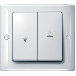 Клавиша для жалюзийного выключателя Schneider Electric MERTEN AQUADESIGN IP44, белый, MTN343419