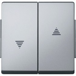 Клавиша для жалюзийного выключателя Schneider Electric MERTEN AQUADESIGN IP44, алюминий, MTN343460