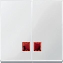 Клавиша двойная с линзами Schneider Electric MERTEN SYSTEM M, полярно-белый, MTN3456-0319