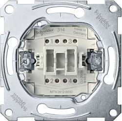Механизм выключателя 1-клавишного двухполюсного Schneider Electric Коллекции Merten, скрытый монтаж, MTN3612-0000