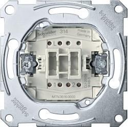 Механизм переключателя 1-клавишного Schneider Electric Коллекции Merten, скрытый монтаж, MTN3616-0000