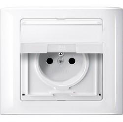 Рамка 1 пост Schneider Electric MERTEN AQUADESIGN IP44, полярно-белый, MTN400119