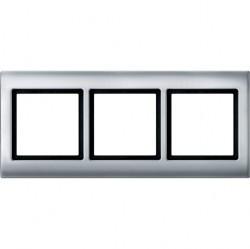 Рамка 3 поста Schneider Electric MERTEN AQUADESIGN IP44, алюминий, MTN400360