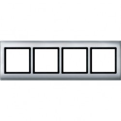 Рамка 4 поста Schneider Electric MERTEN AQUADESIGN IP44, алюминий, MTN400460